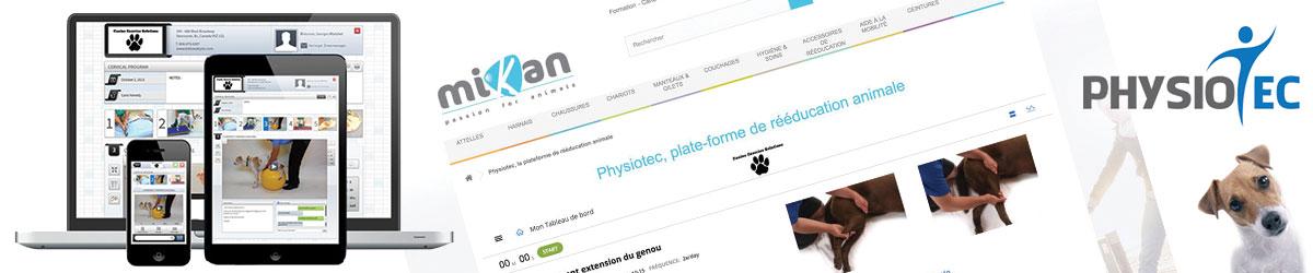 Physiotec accessible sur le site Mikan Vet