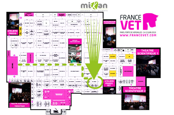 Plan France Vet stand Mikan