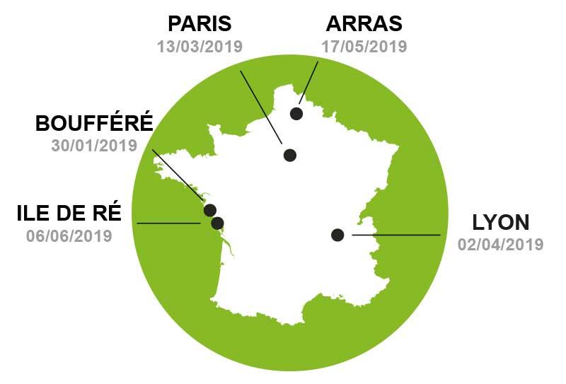 Carte de France des formations Laser Mikan Cap Douleur