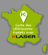 Carte des vétérinaire équipés K-laser en France par MIKAN