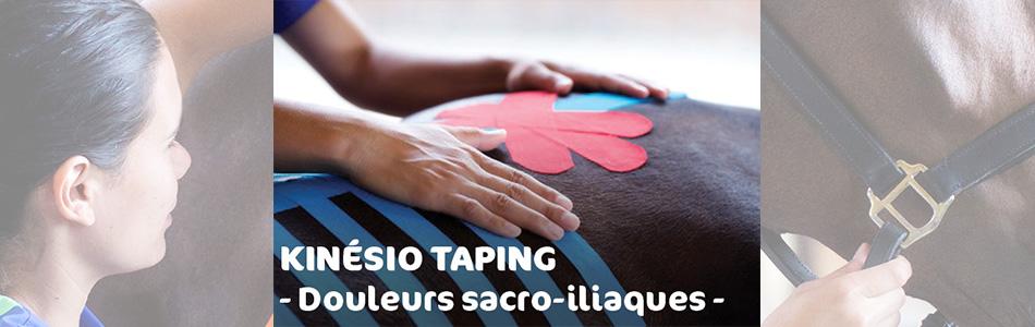 kinesio taping cheval douleurs sacro-iliaque